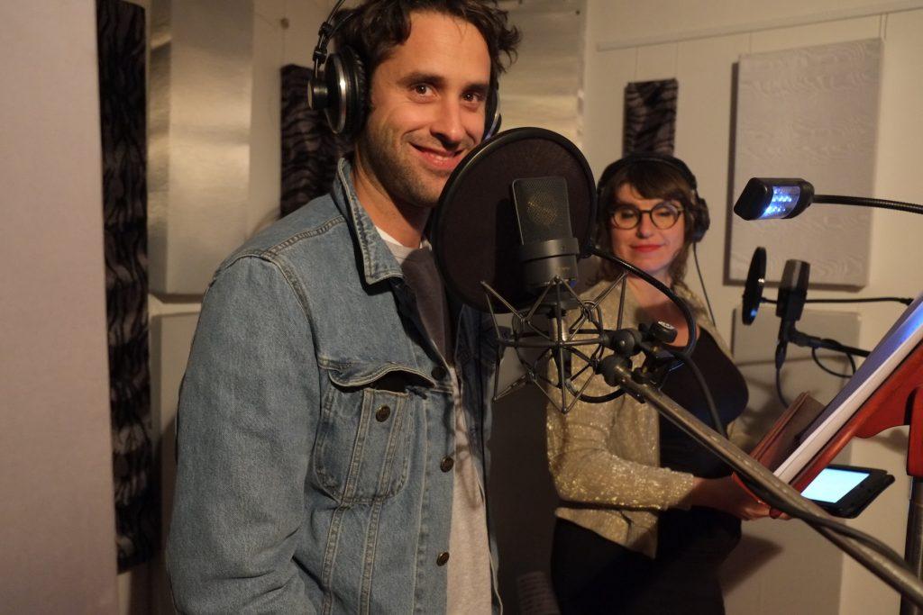Kai Albrecht und Mareike Hube im Studio